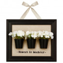 deco frame 3d flowers, 2- times assorted , multico