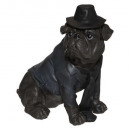 dog hat sitting gm, brown