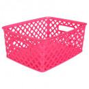 multipurpose basket small rasp, dark pink
