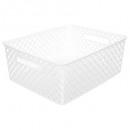 cesta multiusos blanca, blanca mediana