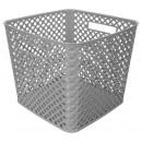 multipurpose basket square gray