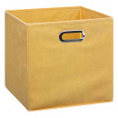 boite rangement 31x31 jaune, gris