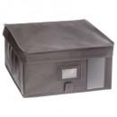boite rangement 30x30x15 gris clair, gris clair