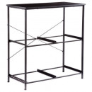 metal shelving 4 compartments mixmodul, black