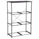 metal rack 6 compartments mixmodul, black
