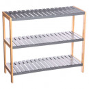 9p wood shoe rack
