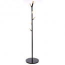 coat rack metal 6 stems n, black