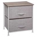 bedside table 2 drawers light gray, light gray