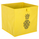 boite rangement 31x31 ananas, jaune