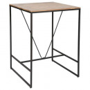 table bar edena 80x80, marron