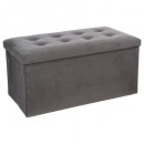 foldable pouf double ve gray lysander, gray