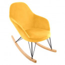 velvet mouwer ewan rocking chair, yellow