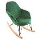 ewan green velvet rocking chair, medium green