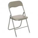 basic taupe folding chair