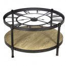 table basse pendule chrono, noir