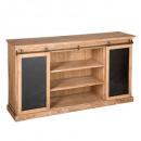 sideboard 2 doors danik slate, brown