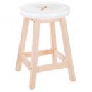 white button stool, white