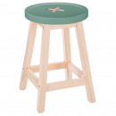 vegetal button stool, light green