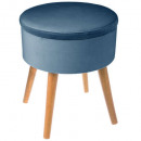 taburete de cajón de terciopelo Tess f azul, azul