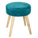 velvet tom blue green, blue stool