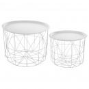 hurtownia Mieszkanie & Dekoracje: stolik kawowy biały matowy x2, biały