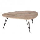 table basse neile gm112x80, marron
