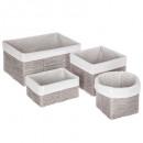 mayorista Materiao de transporte y accesorios: taupe x4 taupe cuerda cesta de papel
