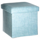 folding pouf blue tomaz, light blue