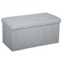 foldable pouf double light gray tomaz, light gray