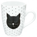 mug ronde chat pois 33cl, 2-fois assorti, multicol