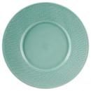 plato plano turquesa trenzado 29cm