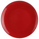 plato plano rojo 26cm, rojo