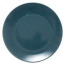 plato almendra verde plana 26cm, marfil