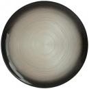 plato presentación jem negro y plata 33cm