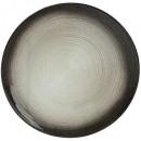 plato postre jem negro y plata 21cm