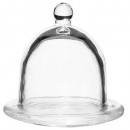 beurrier verre cloche 9,5x9cm, transparent