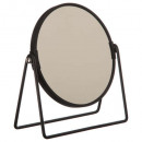 black swing mirror, silver