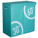 wholesale Laundry: basket double bin DUTRI turq, light blue