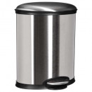 cubo de basura 20l plata oval, plata