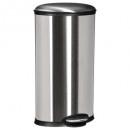Großhandel Haushaltswaren: Abfallbehälter 30l oval Silber, Silber