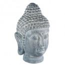 Buddha Kopf 32x29x52, grau