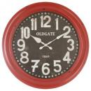 Clara rode d52 metalen klok, rood