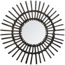 wholesale Mirrors: rattan mirror black floor d58, black
