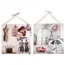 groothandel Verpakkingsmaterialen & accessoires: bedrukt canvas  lint naaien 48x48, 2- maal geassort