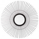 mirror sun metal modern l d59, black