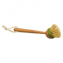 bamboo dish brush, beige