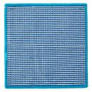 grossiste Bijoux & Montres: lavette 2face20x20 bleu, bleu