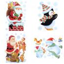 Glitzer Sticker Weihnachtsmann / sn / p 29x40cm, 4