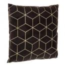 grossiste Coussins & Couvertures: coussin noir motif geom 40x40