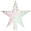 stella di cresta di abete artificiale 22cm, assort